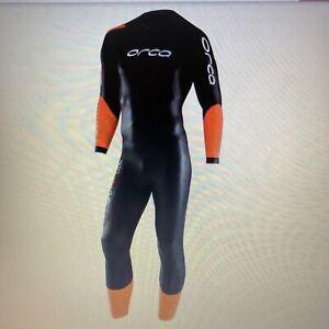 ORCA Core Neoprenanzug Herren Wetsuit Freiwasserschwimmen incl. Kappe, wie Neu