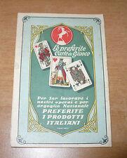 CALENDARIETTO 1932 PRIMA FABBRICA CARTE DA GIOCO E AFFINI CAMBISSA & C. TRIESTE