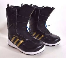 2015 MENS ADIDAS BLAUVELT SNOWBOARD BOOTS  375 9 black metallic gold white  USED 766d6c004