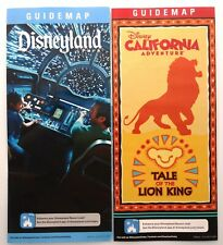 Disneyland June 2019 Guide Map Set Star Wars Galaxy's Edge & DCA Lion King