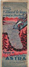 1939 Guide & circuits Alsace et les Vosges - Autocars ASTRA -Plan de Strasbourg