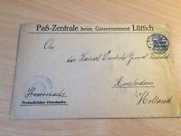 Germany Reich cover from Luttich Liege to Amsterdam massive red seal awesome