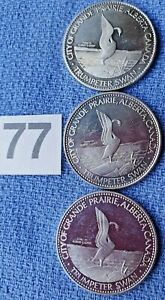 CANADA TRADE DOLLAR COINS X 3  (id77) IN VERY GOOD CONDITION