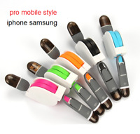 CABLE enrouleur 2 en 1 iphone android micro usb samsung
