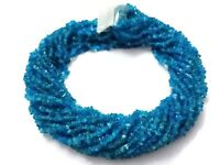 """1 Strand Natural Neon Apatite Smooth Chips 3-5mm Gemstone Loose Beads 34""""inch"""