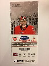 OTTAWA SENATORS VS MONTREAL CANADIENS SEPTEMBER 23, 2017 PRE-SEASON TICKET STUB