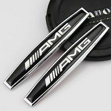 2pcs 3D Auto AMG Aufkleber Emblem Schriftzug für Schutzblech für schwarz klein