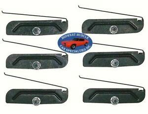 "Chrysler Body Side Rocker 2"" to 3-3/4"" Trim Moulding Molding Clips & Nuts 6pc R"