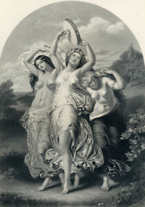 *L'ALLEGRO* - VINTAGE ENGRAVING ca 1886
