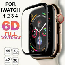 6D Tempered Glass Screen Protector For Apple Watch iWatch 5 4 3 2 38/40/42/44 mm