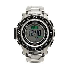 PRW3500T-7 Casio Mens Pro Trek Triple Sensor Titanium Watch NEW