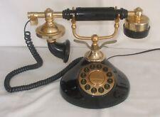 NOVELTY RETRO BLACK CORDED PHONE TELEPHONE