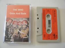 THE WHO ODDS AND SODS CASSETTE TAPE 1974 RED PAPER LABEL & TRACK RECORDS UK