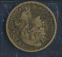 Togo 2 1924 sehr schön Aluminium-Bronze 1924 1 Franc Laureate (8977187