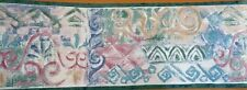 1Roll Wallpaper Border Seabrook TE1004B 5yds Green Pink Blue Prepasted AX37/10