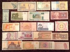 Lot Of 20 Word Banknotes. Collectable. All Different. All Genuine. Unc Bulk Lot.