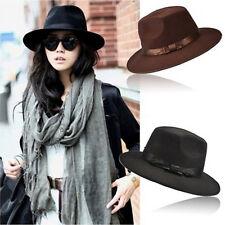 91f85e5877b14 Women Men Unisex Vintage Blower Jazz Hat Trilby Derby Cap Fedora Style Hats  TK