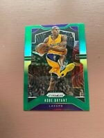 2019-20 NBA PANINI PRIZM KOBE BRYANT # 8 GREEN PRIZM LAKERS BASKETBALL CARD