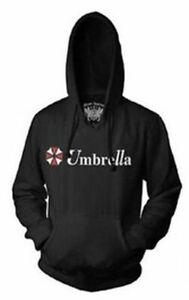 Adult Resident Evil Umbrella Corporation Classic Logo Black Hoodie Sweatshirt