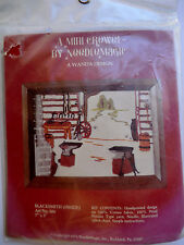 Vintage Mini Crewel Embroidery Kit Blacksmith Design New Unused Free Shipping