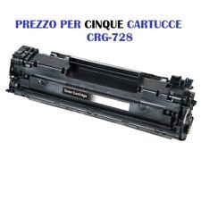 CARTUCCIA PER CANON I-SENSYS MF-4410 MF-4430 MF-4450 MF-4500 X 5 TONER CRG-728