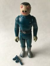 VINTAGE Star Wars figure BLUE SNAGGLETOOTH Rare with blaster weapon