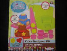 JAKKS PACIFIC Girl Gourmet CAKE DESIGNER KIT 12 pcs NEW