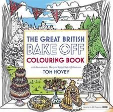 GREAT BRITISH BAKE OFF COLOURING BOOK - NEW PAPERBACK BOOK