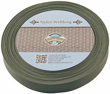 """Country Brook Design® 1"""" Olive Drab Green Lite Weight Nylon Webbing, 10 Yds"""