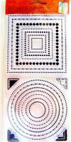 Layer Away Dots Frames Clear Acrylic Stamp Set by Fiskars 01-005516 NEW!