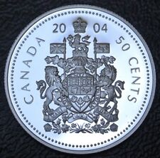 2004 CANADA - 50 CENTS - .925 STERLING SILVER PROOF - Elizabeth II - Nice - NCC