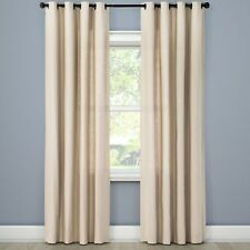NEW Threshold Textured Brown Linen Solid Curtain Window Panel 54x108""