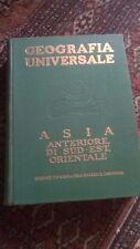 GEOGRAFIA UNIVERSALE - ASIA ANTERIORE.DI SUD-EST,ORIENTALE - UTET - 1936