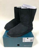 Emu Australia Stinger Lo Black Womens Winter Boots Size 9