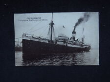 postcard Boat Ship Paquebot Cap Desirade Compagnie Chargeurs Reunis