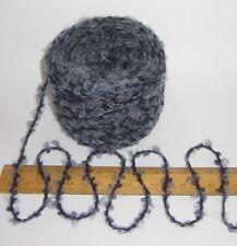 50g balls Denim Blue Marl Marble Mohair Wool boucle loop British knitting yarn