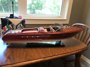 "beautiful Riva Aquarama Model Boat~~Size:  L: 35"" H: 9"" W: 9.5"""