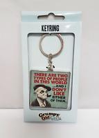 I Dont Like Grumpy Old Man Keyring Mens Key Ring Gift Moody Novelty Present K1