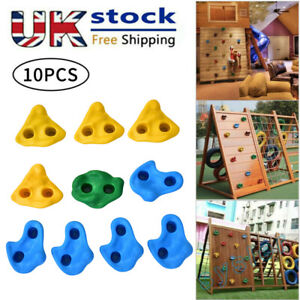 Premium Climbing Holds High Grip Polyresin Stones with Stainless Steel Fixings