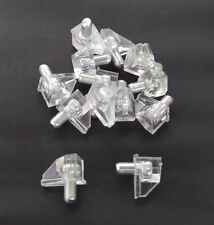 (100PCS) 5mm DIA PIN PLASTIC SHELF SUPPORT, CLEAR