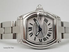 LARGE CARTIER ROADSTER 2510 AUTOMATIC SILVER DIAL STAINLESS STEEL.