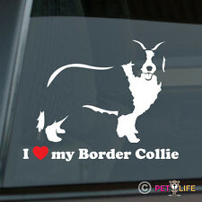I Love My Border Collie Sticker Die Cut Vinyl - v2 sheep dog