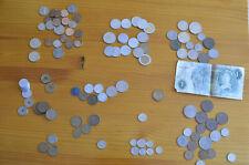 Lote 116 monedas antiguas Libras liras Yens Dracmas Deutsche Mark Chelines