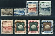NICE LOT OF 8 ITALIAN ERITREIA MINT HINGED AND CANCELLED