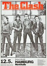 "Reproduction The Clash ""Hamburg"" Poster, Joe Strummer, Home Wall Art"