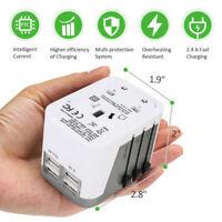 All In One Travel Adapter International Universal Power 4 USB Port WorldWide