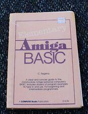 Vintage Computer Book Elementary Amiga Basic Language Manual Commodore C Regena
