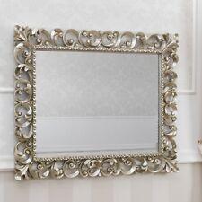 Specchiera Zaafira stile Barocco cornice traforata foglia argento mecca specchio