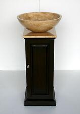 "16.5"" Stone Sink Bowl Vessel Vanity Single Basin Bathroom Pedestal Cabinet 156T"
