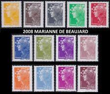 2008 FRANCE N°4226/4238** Marianne de Beaujard Série COMPLETE TTB MNH